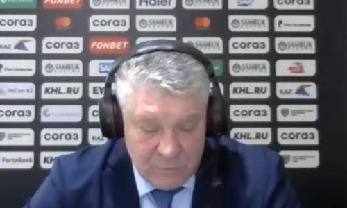 Видео послематчевой пресс-конференции игры КХЛ «Барыс» — «Авангард» 3:2 ОТ
