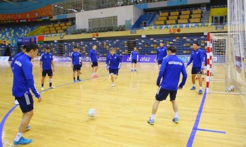 Сборная Казахстана провела предыгровую тренировку перед матчем отбора ЕВРО-2022