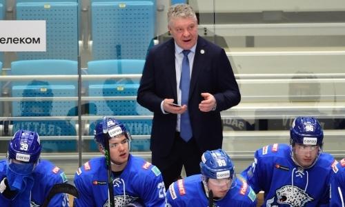 Главный тренер «Барыса» назвал героя победного матча с «Металлургом» в плей-офф КХЛ