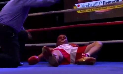 Аргентинский боксер ворвался в клуб претендентов на лучший нокаут месяца. Видео