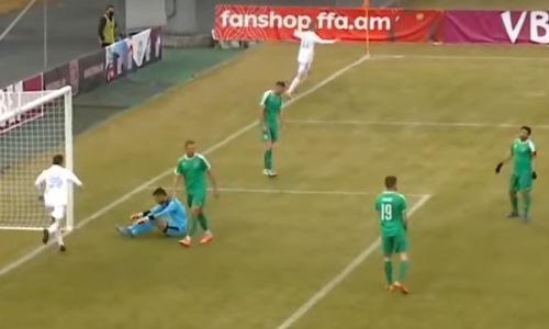Казахстанский футболист отличился автоголом в европейском чемпионате. Видео