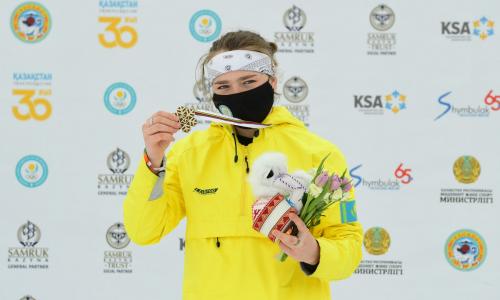 «Впечатления нереальные». Казахстанская спортсменка высказалась о бронзовой медали чемпионата мира по фристайлу-могулу в Алматы