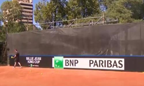 Сборная Казахстана по теннису продолжает подготовку в Кордове