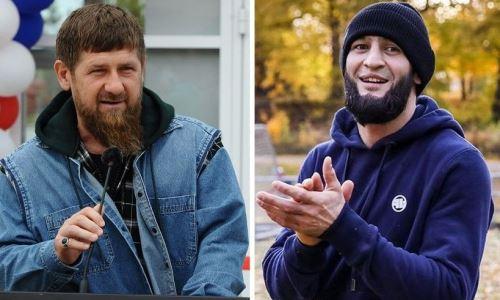 Боец UFC Хамзат Чимаев поборолся с Рамзаном Кадыровым. Видео
