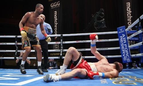 «Сказал себе, что не упаду». Чемпион мира вспомнил победу нокаутом над казахстанским боксером из команды Головкина