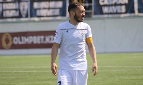36-летний хавбек впервые в нынешнем сезоне вывел «Каспий» с капитанской повязкой