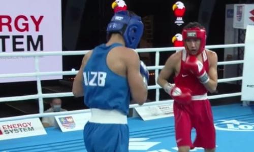 Видео боя, или Как казахстанец вчистую проиграл узбеку на молодежном чемпионате мира-2021