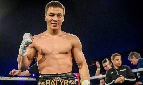Батыр Джукембаев готовится провести вдвойне уникальный бой