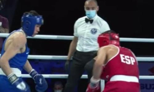 Видео боя с тремя нокдаунами и нокаутом, или Как казахстанец мутузил испанского боксера на МЧМ-2021