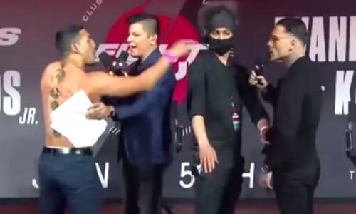 Теофимо Лопес обнажился и полез драться с соперником на пресс-конференции. Видео