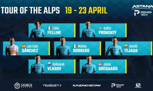 «Астана» объявила состав команды на «Тур Альп»