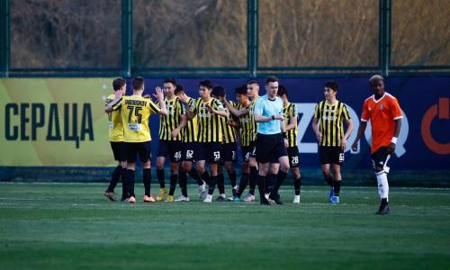 Молодежка «Кайрата» благодаря пенальти на последних минутах вырвала ничью в матче Первой лиги