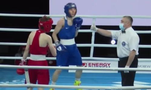Как казахстанский боксер побывал в нокдауне, но отправил туда соперника четырежды и победил нокаутом. Видео