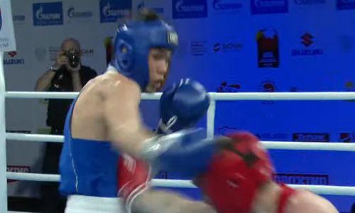 Казахстанский боксер после нокаута побил белоруса и вышел в четвертьфинал МЧМ-2021