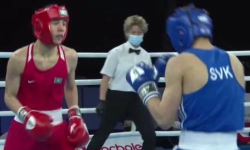 17-летний казахстанский боксер с гонгом нокаутировал соперника на МЧМ-2021