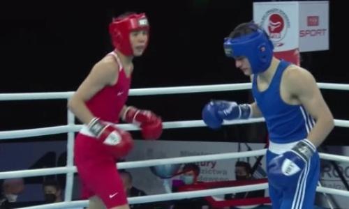 Как 17-летний казахстанский боксер оформил нокаут с гонгом на МЧМ-2021. Видео