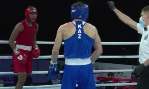 Видео боя, или Как казахстанец отправил в нокдаун латиноса и вышел в четвертьфинал МЧМ-2021