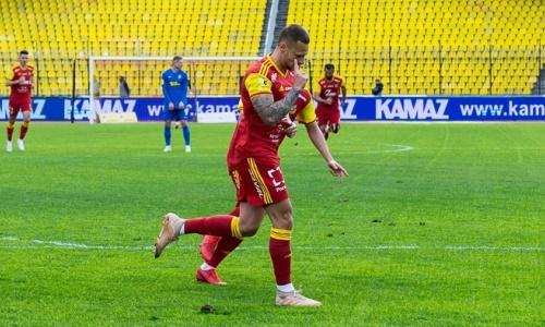 Футболист с казахстанскими корнями забил победный гол и положил начало разгрому в матче РПЛ. Видео
