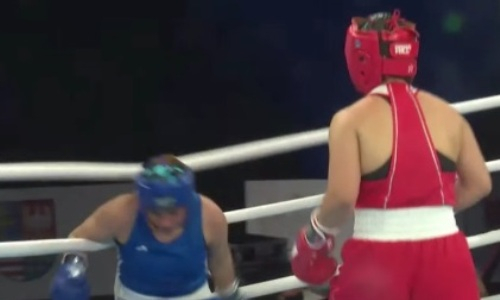 Жестко долбанула. Видео нокдауна румынки после мощного удара казахстанки на МЧМ-2021