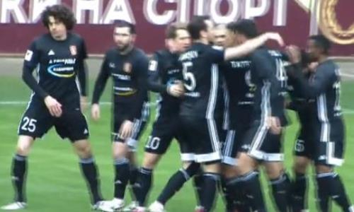 Видео гола Хубулова матча Премьер-Лиги «Актобе» — «Шахтер»