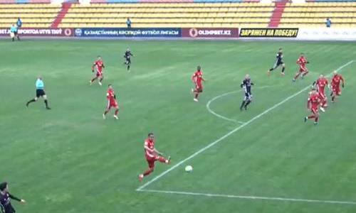 Видео второго гола Хубулова матча Премьер-Лиги «Актобе» — «Шахтер»