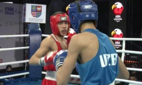 Как казахстанский боксер избил узбека и вышел в полуфинал молодежного ЧМ-2021. Видео