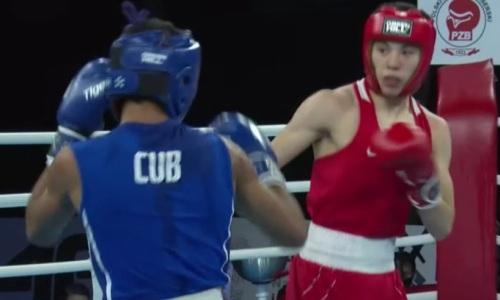 Видео боя, или Как казахстанский боксер побил чемпиона Кубы и гарантировал себе медаль МЧМ-2021