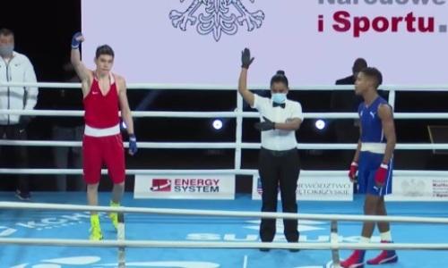 Еще один казахстанец победил кубинского боксера на МЧМ-2021