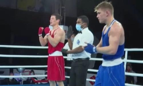 Стартовавший с нокаута казахстанский боксер без проблем вышел в полуфинал МЧМ-2021