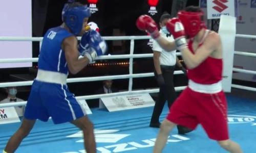 Видео боя, или Как казахстанец в рубке победил кубинского боксера за медаль молодежного ЧМ-2021