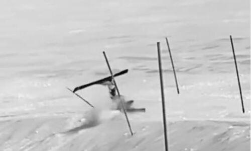 Казахстанская горнолыжница жестко упала во время тренировки в горах и восхитила подписчиков. Видео