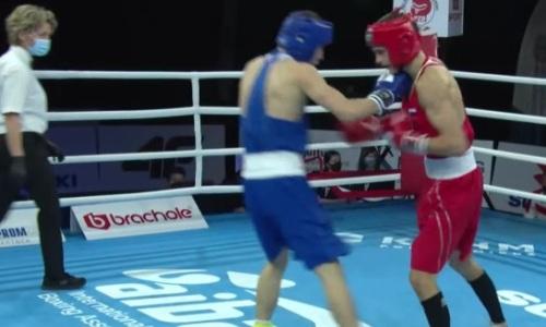 Видео полного боя, в котором казахстанский боксер оставил сборную России без капитана на МЧМ-2021
