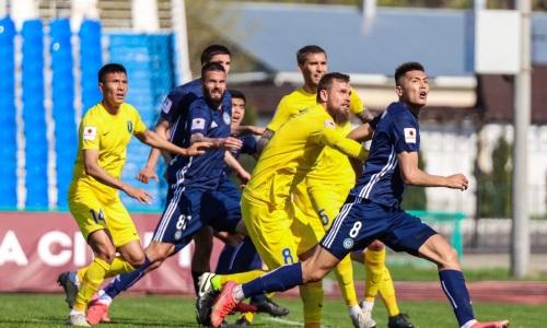 «Ордабасы» впервые выиграл у «Жетысу» с разницей в четыре мяча