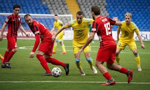 «Кызыл-Жар» в играх Премьер-Лиги против «Астаны» не может набрать ни одного очка
