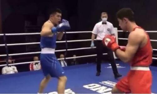 Появилось видео боя Бекзада Нурдаулетова против известного узбека на турнире в России