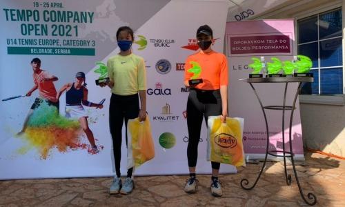 Казахстанка триумфально выступила на теннисном турнире в Сербии