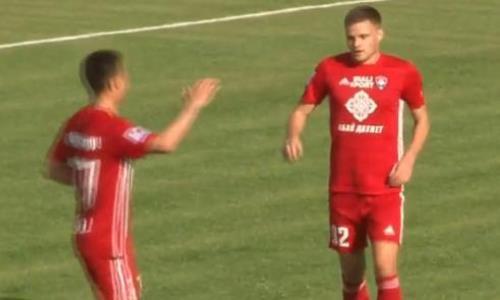 Видео второго гола Лаукжемиса матча Премьер-Лиги «Ордабасы» — «Кайсар»