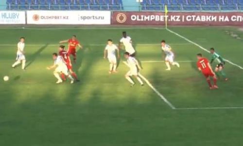 Видео гола Сергеева матча Премьер-Лиги «Тараз» — «Актобе»