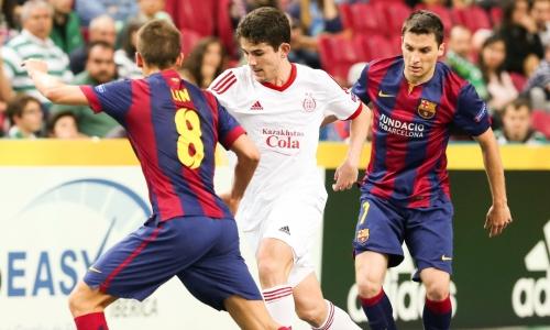 «Кайрат» сыграет с «Барселоной» в полуфинале Лиги Чемпионов