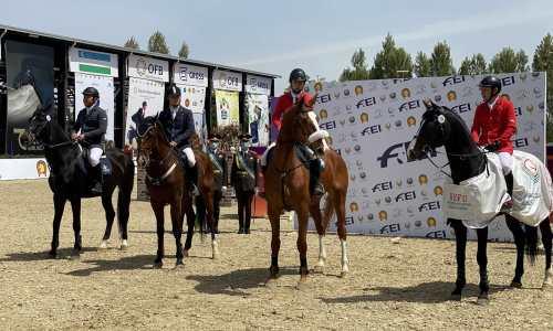 Казахстан занял третье место в соревнованиях по конному спорту на Кубке Наций Евразийской Лиги в Ташкенте
