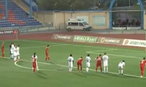 Видео гола Касыма матча Премьер-Лиги «Кайсар» — «Кызыл-Жар СК»