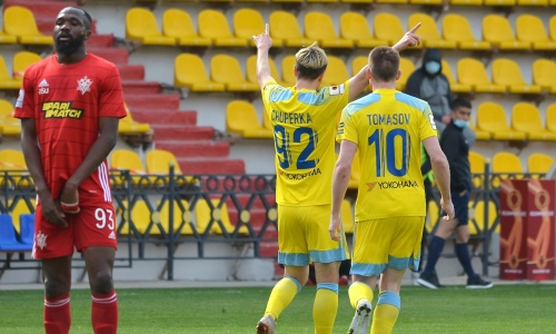 «Астана» легко на выезде победила «Актобе» и выиграла шестой подряд матч в КПЛ