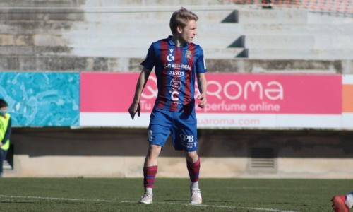 Испанский клуб футболиста молодежной сборной Казахстана спасся от поражения в конце матча