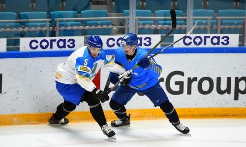 Сборная Казахстана провела второй двусторонний матч с девятью шайбами перед ЧМ-2021