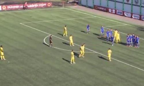 Видео гола Кислицына матча Премьер-Лиги «Акжайык» — «Жетысу»
