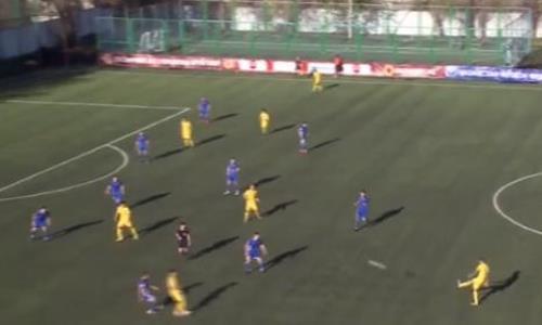 Видео гола Адахаджиева матча Премьер-Лиги «Акжайык» — «Жетысу»