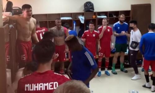 «Туран» опубликовал видео из раздевалки после исторической победы в матче КПЛ над «Ордабасы»