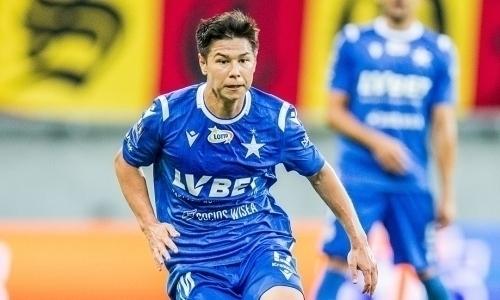 «Хорошо выполнял свою работу». Казахстанский футболист удостоился высокой оценки в Польше
