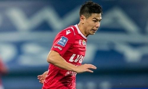Казахстанский футболист вошел в пятерку лучших игроков матча в европейском чемпионате