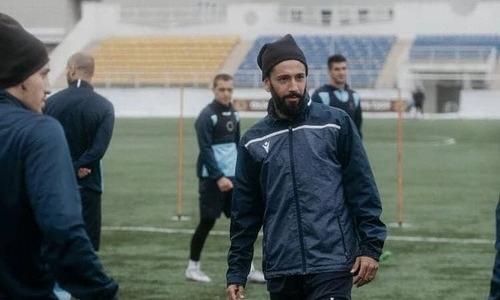 «Каспий» показал фото с тренировки перед матчем с «Ордабасы»